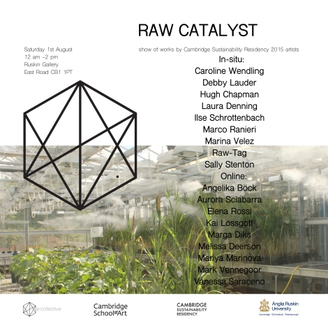 sustainability residency show invite